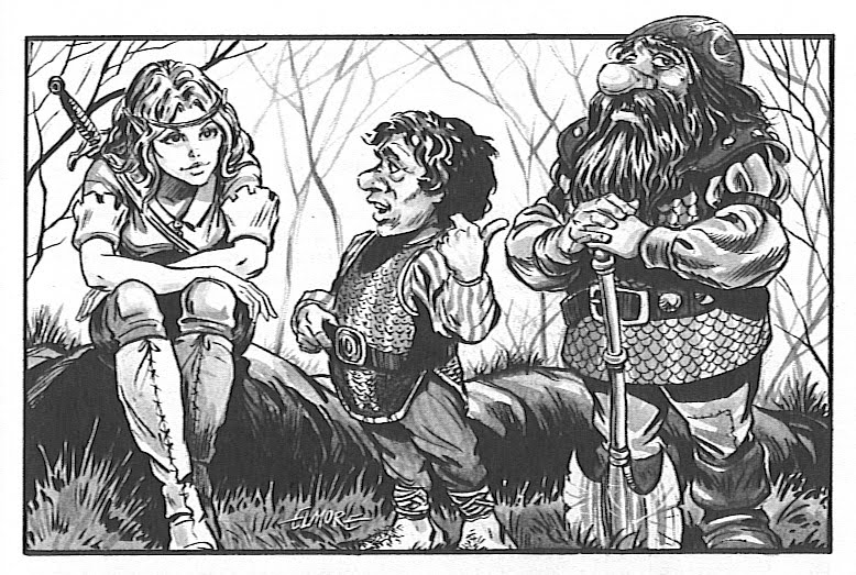 Larry Elmore's Elf, Halfling, and Dwarf