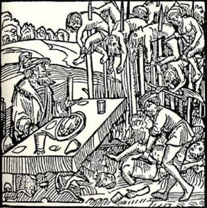 Vlad the Impaler Germanic Woodcut Illustration
