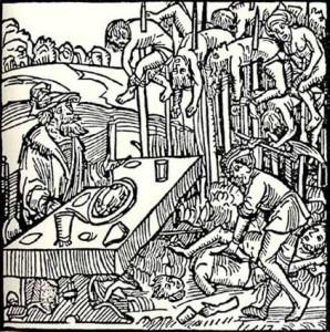 Vlad the Impaler Germanic Woodcut Illustration